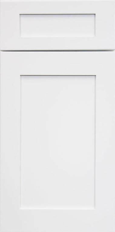 Ice White Shaker Door