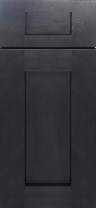 Dark wood finish cabinets