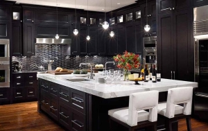 Dark Wood Finish Forevermark Cabinets