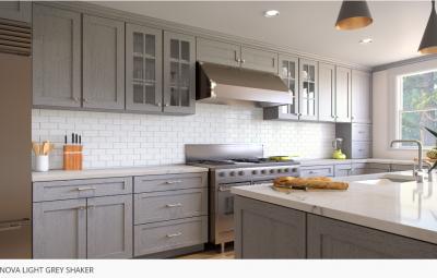 Forevermark Nova Light Grey RTA Cabinets
