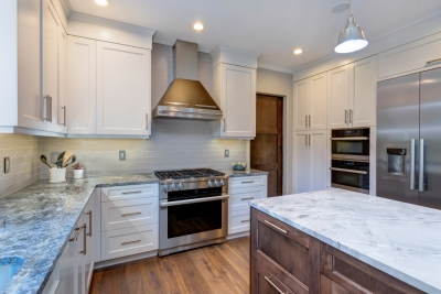 Kitchen remodeling, white shaker cabinets