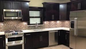 dark wood rta kitchen cabinets