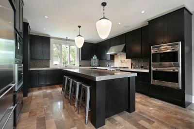 small luxury kitchens rta dark cabinets
