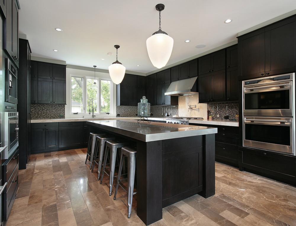 Kitchen Spaces & Dark Wood RTA Kitchen Cabinets